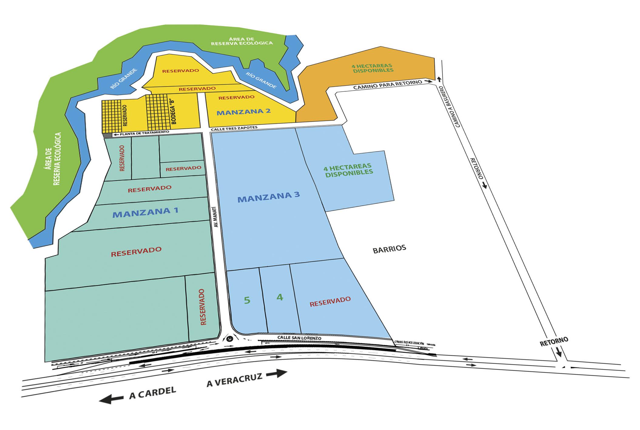 Mapa Lotes Olmeca